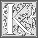 Capital Letter K Initial