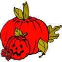 download Pumpkins Colour clipart image with 315 hue color