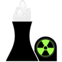 download Nuclear Plant Black clipart image with 45 hue color