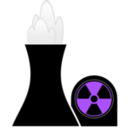 download Nuclear Plant Black clipart image with 225 hue color