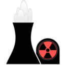 download Nuclear Plant Black clipart image with 315 hue color