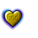 download God Heart Editable Text clipart image with 45 hue color