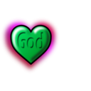 download God Heart Editable Text clipart image with 135 hue color