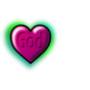 download God Heart Editable Text clipart image with 315 hue color