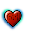 God Heart Editable Text