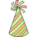 download Green Party Hat clipart image with 315 hue color