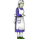 download Grandma clipart image with 45 hue color
