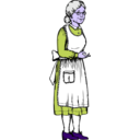 download Grandma clipart image with 225 hue color