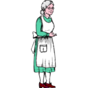 download Grandma clipart image with 315 hue color