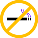 download No Smoking clipart image with 45 hue color