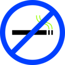 download No Smoking clipart image with 225 hue color