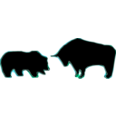 download Bull Bear Variation Iii clipart image with 135 hue color