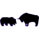 download Bull Bear Variation Iii clipart image with 225 hue color
