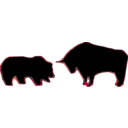 download Bull Bear Variation Iii clipart image with 315 hue color