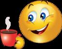 Boy Drink Tea Smiley Emoticon