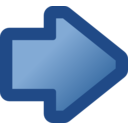 Icon Arrow Right Blue