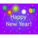 download Happy New Year clipart image with 45 hue color