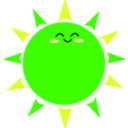 download Happy Sun clipart image with 45 hue color