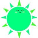 download Happy Sun clipart image with 90 hue color