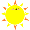 download Happy Sun clipart image with 0 hue color