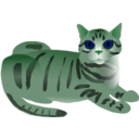 download Tabby Cat clipart image with 135 hue color