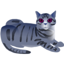 download Tabby Cat clipart image with 225 hue color