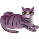 download Tabby Cat clipart image with 315 hue color
