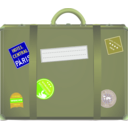 download Suitcase clipart image with 45 hue color