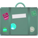 download Suitcase clipart image with 135 hue color