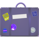 download Suitcase clipart image with 225 hue color