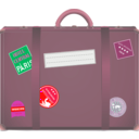 download Suitcase clipart image with 315 hue color