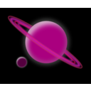 download Planet clipart image with 315 hue color