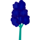download Tree clipart image with 135 hue color