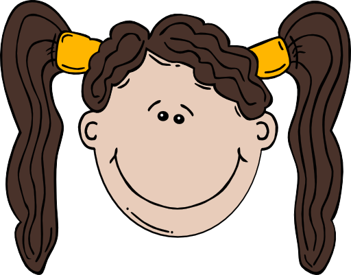 Girl Face Cartoon Clipart | i2Clipart - Royalty Free ...