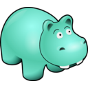 download Hippo clipart image with 135 hue color