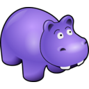 download Hippo clipart image with 225 hue color
