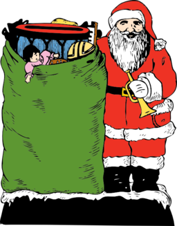 Santa And His Bag