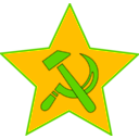 download Hammer And Sickle In Star clipart image with 45 hue color
