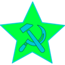 download Hammer And Sickle In Star clipart image with 135 hue color