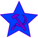download Hammer And Sickle In Star clipart image with 225 hue color