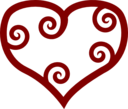 Valentine Red Maori Heart