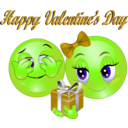 download Happy Valentine Day Smiley Emoticon clipart image with 45 hue color