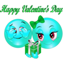 download Happy Valentine Day Smiley Emoticon clipart image with 135 hue color