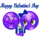 download Happy Valentine Day Smiley Emoticon clipart image with 225 hue color