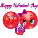 download Happy Valentine Day Smiley Emoticon clipart image with 315 hue color