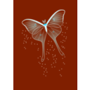 download Bright Butterfly clipart image with 135 hue color