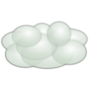 download Cloud clipart image with 225 hue color