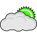 download Cloudy clipart image with 45 hue color