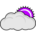 download Cloudy clipart image with 225 hue color