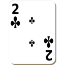 White Deck 2 Of Clubs